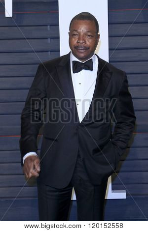 LOS ANGELES - FEB 28:  Carl Weathers at the 2016 Vanity Fair Oscar Party at the Wallis Annenberg Center for the Performing Arts on February 28, 2016 in Beverly Hills, CA
