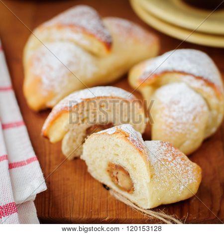 Marzipan Yeast Rolls