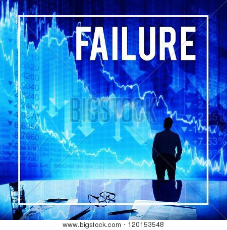 Failure Un-success Loss Depression Fail Concept