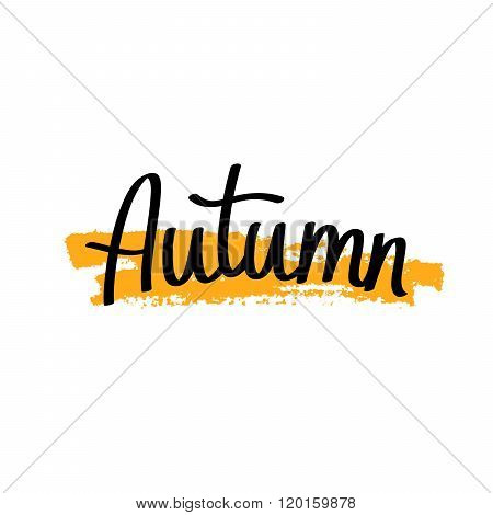 Autumn. Modern Golden Brush