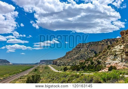 U.S.A., New Mexico, landscapes from the Route 66 between Gallup and Arizona.