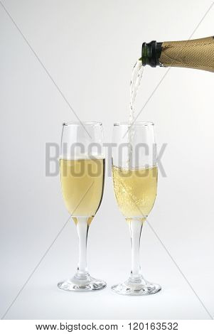 Pouring Cava On A Cup