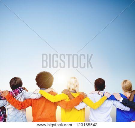 Diversity People Huddle Teamwork Union Concept