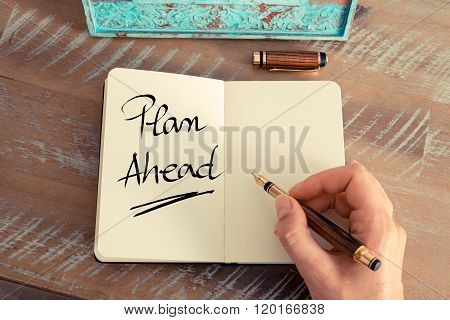 Handwritten Text Plan Ahead