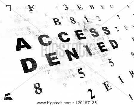Privacy concept: Access Denied on Digital background