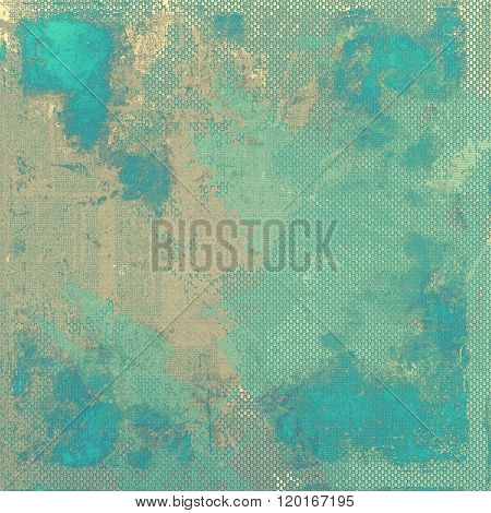 Antique grunge background with space for text or image. With different color patterns: brown; green; blue; gray; cyan