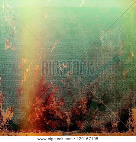Grunge texture. With different color patterns: yellow (beige); brown; green; red (orange); black