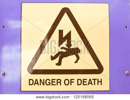 Danger Of Death Electric Shock Vintage
