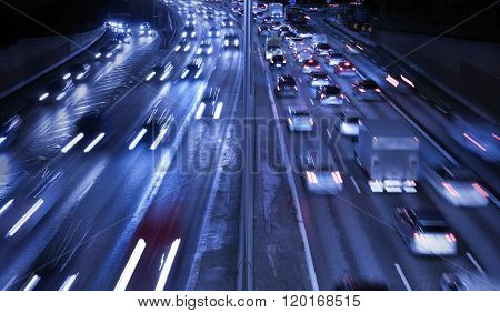 Traffic on Freeway