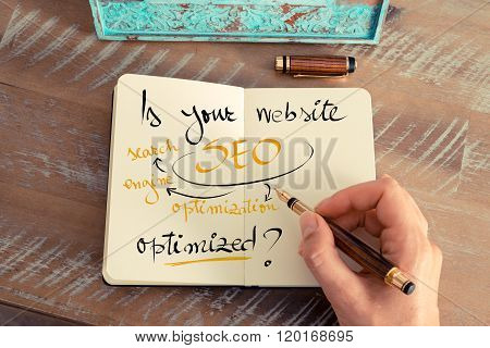 Handwritten Text Is Your Website Seo Optimized ?