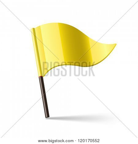 Vector illustration of yellow flag