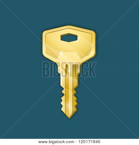 Real estate concept. Vector illustration of key