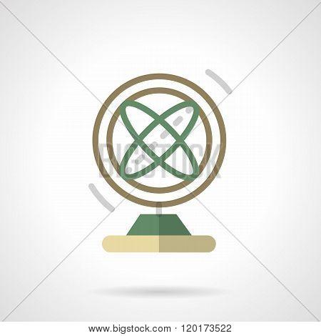 Atom model flat color design vector icon