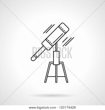 Astronomy tools thin line design vector icon
