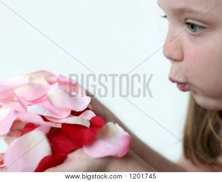 Girl Blowing Petals 2 F