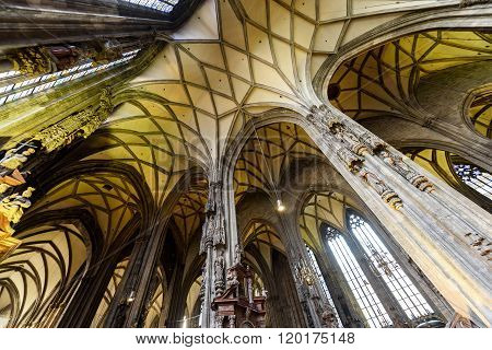 VIENNA, AUSTRIA - NOVEMBER 2015: Saint Stephen's Cathedral Stephansdom the mother church of the roma