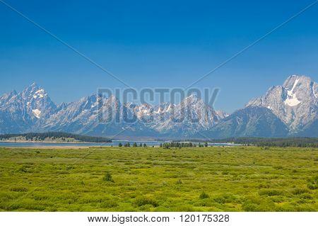 Teton Mountains In Wyoming, Usa.
