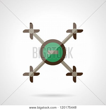 Abstract drone flat color design vector icon