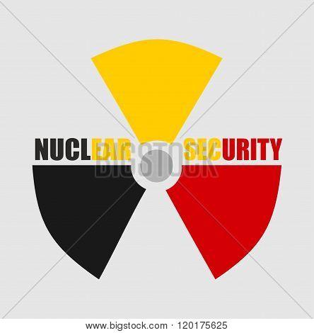 Atom energy danger sign