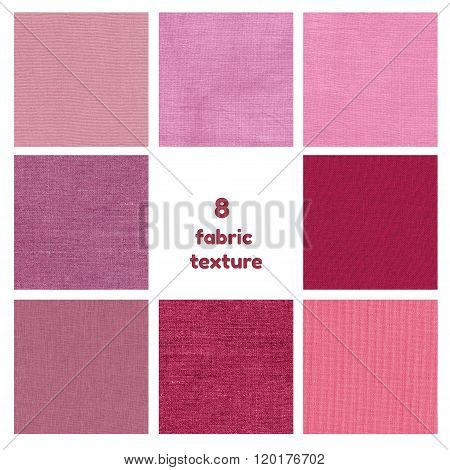 Purple and pink texture set