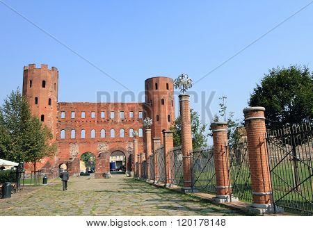 Ancient ruins of Palatine towers, Turin