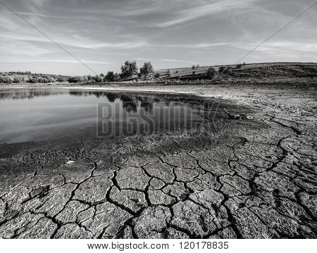 Water Evaporates And Drought Comes In