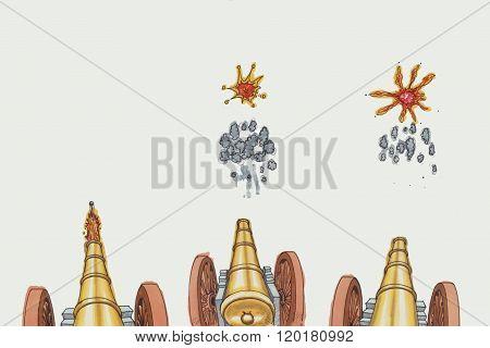 Cannon Cartoon Illustration
