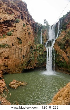 Ouzoud waterfalls in Grand Atlas village of Tanaghmeilt
