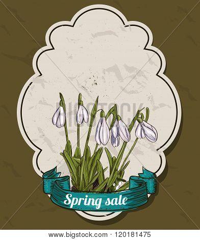 Vintage set of spring labels.