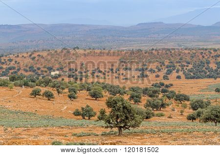 Beautiful landscape of mountains in Moroccan desert