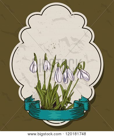Vintage set of spring flower labels.