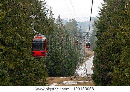 Rad cable car at Pilatus Mountain in Lucern Switzerland
