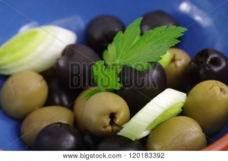 Green And Black Olive