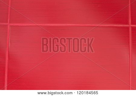 Red Tiles With Seams