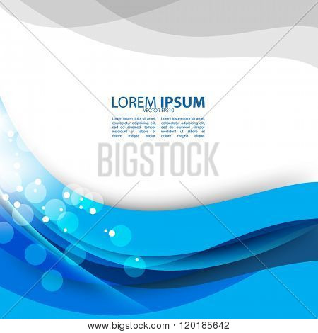 flat layout blue wave elements material background design