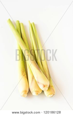 Fresh Lemongrass On A White Background