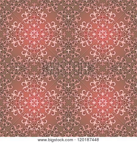 Seamless Background Pattern. Arabic Floral Motifs.