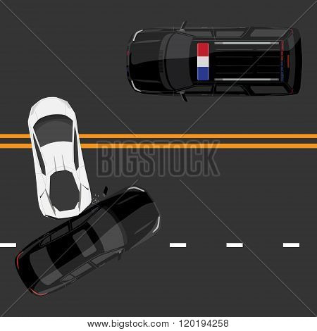 Car Accident Top View