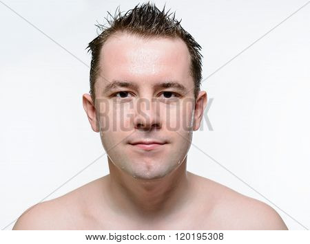 Portrait Of Naked Man