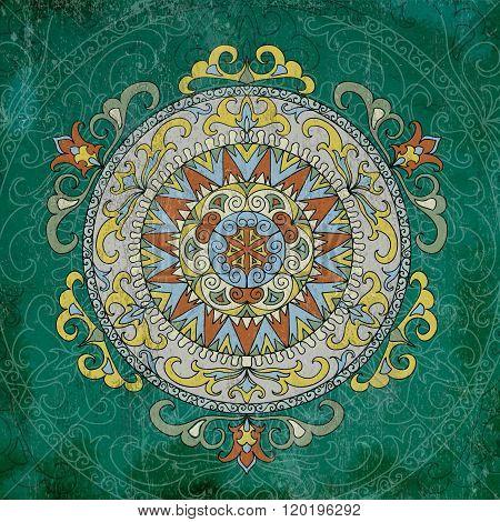 Grunge Mandala vintage pattern