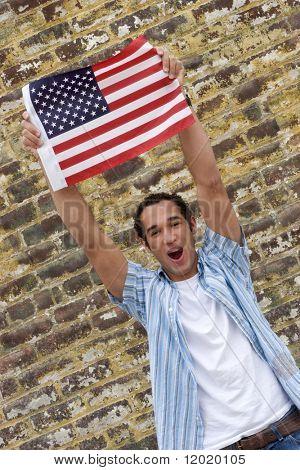 Homem de bandeira
