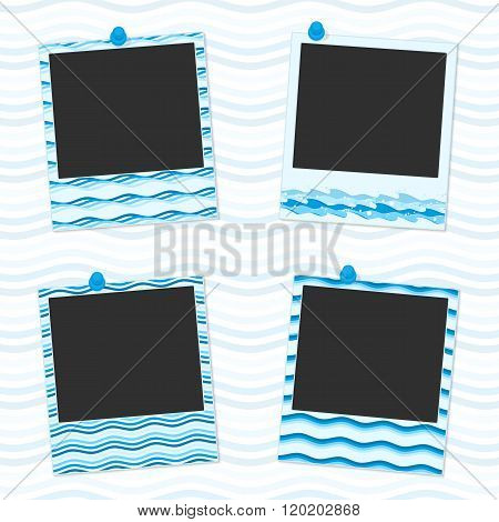 Sea photo frames.