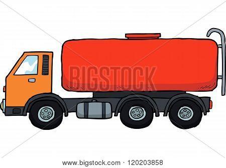 Cartoon Gasoline Tanker