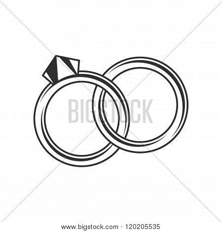 Wedding rings icon.