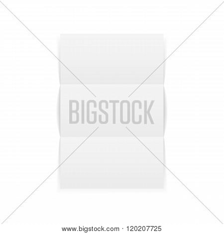 Triple fold realistic blank a4 Paper Sheet