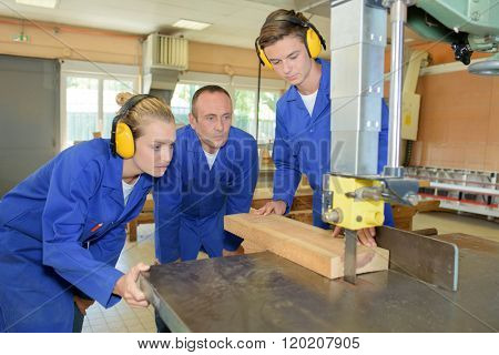 using band saw