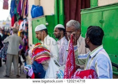 Street vendors charminar hyderabad