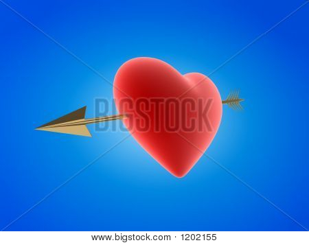 Heart Hit By An Arrow