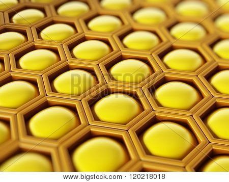Yellow Abstract Hexagon
