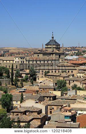 Toledo, Spain - August 24, 2012: Aerial View Of Toledo. Hospital De Tavera - Musum  Duque De Lerma